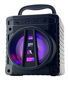 CAIXA DE SOM GRASEP AL-301 BLUETOOTH - ENTRADA USB E MICRO SD - RÁDIO FM INTEGRADO - SOM HI-FI DE QUALIDADE - 5W RMS