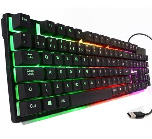 Teclado Gamer Anti-ghost Usb Led Rainbow Knup Kp-2043