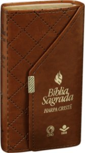 Bíblia Carteira com Harpa Cristã - Marrom