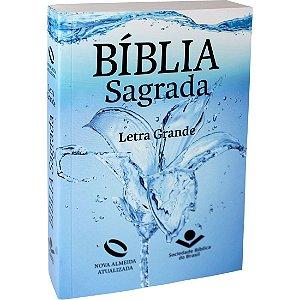 Bíblia Sagrada Letra Grande - Nova Almeida Atualizada - Brochura - Água
