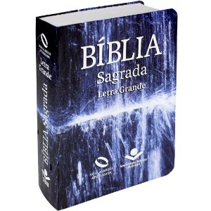 Bíblia Sagrada Letra Grande - Nova Almeida Atualizada - com Índice - Água