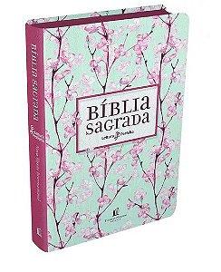 Salvar Bíblia Sagrada | Leitura Perfeita | NVI | Letra Normal | Capa Cerejeira | Tecido