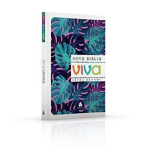Nova Bíblia Viva - Folhagem Roxa - Letra Grande