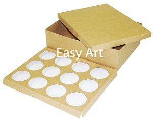 Caixas para Transporte de 12 Cupcakes - Pct com 10 Unidades