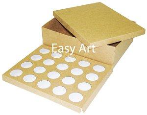 Caixas para Transporte de 20 Mini Cupcakes - Pct com 10 Unidades