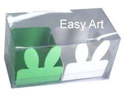 Caixa Clean 2 Doces com Forminha de Orelinha Páscoa Cores - 10 unidades