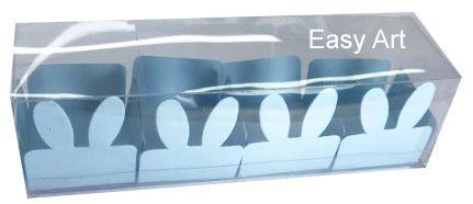 Caixa Clean 4 Doces com Forminha de Orelinha Páscoa Cores - 10 unidades