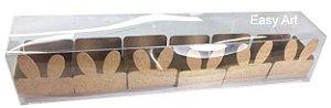 Caixa Clean 6 Doces com Forminha de Orelinha Páscoa Cores - 10 unidades