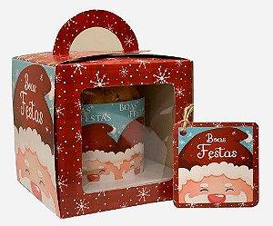 Caixa para Mini Panetone 100g / Noel Boas Festas