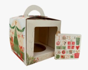 Caixa para Mini Panetone 100g / Calendário de Natal