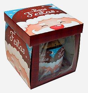 Caixa para Panetone 500g - 750g / Gorro Papai Noel