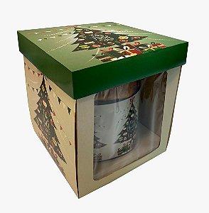 Caixa para Panetone 500g - 750g / Árvore de Natal