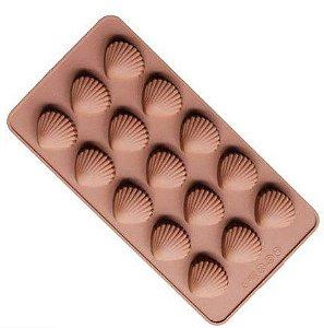 Formas de Silicone para Bombons - Conchinhas - 21X11,5X1,5