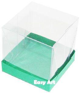 Caixinhas para Mini Bolos - Verde Bandeira