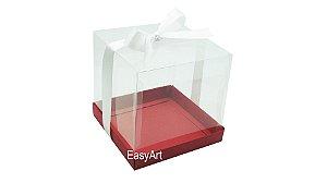Caixinhas para Mini Bolos 8x8x8 - Vermelho