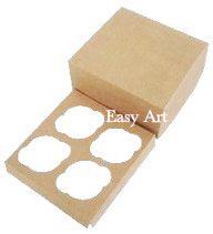 Caixas para 4 Cupcakes - Kraft