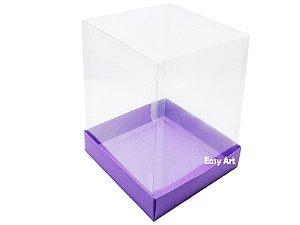 Caixinhas para Mini Bolos / Mini Panetones - Lilás