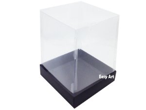 Caixinhas para Mini Bolos / Mini Panetones - Preto