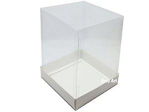 Caixinhas para Mini Bolos / Mini Panetones 10x10x10 - Branco