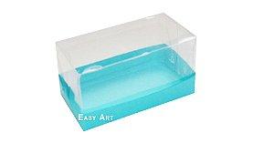 Caixa Para 2 Brigadeiros - Azul Tiffany