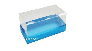 Caixa Para 2 Brigadeiros - Azul Turquesa