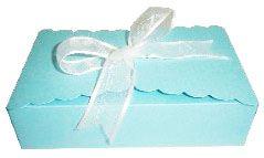 Caixinha para Biscoitos e Presentes - Azul Claro