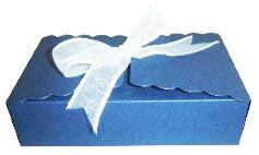 Caixinha para Biscoitos e Presentes - Azul Marinho