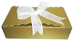Caixinha para Biscoitos e Presentes - Dourado Brilhante