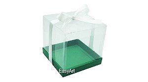 Caixinha para Mini Bolos - Verde Bandeira