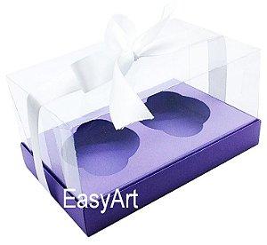 Caixas para Dois Cupcakes / Dois Mini Panetones - Lilás