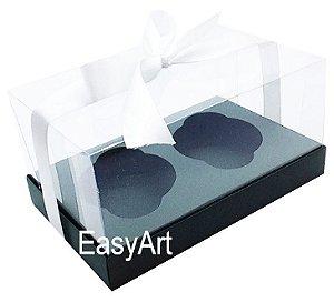 Caixas para Dois Cupcakes / Dois Mini Panetones - Verde Musgo