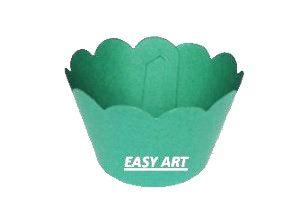 Wrapper para Cupcakes - Verde Bandeira