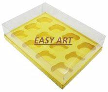 Caixas para 12 Mini Cupcakes - Amarelo