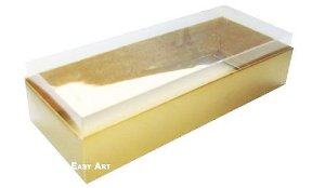 Caixa para 15 Brigadeiros - Dourado Brilhante