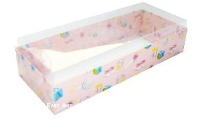 Caixa para 15 Brigadeiros - Estampado Bebê Rosa