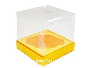 Caixas para 1 Mini Cupcake - Laranja Claro