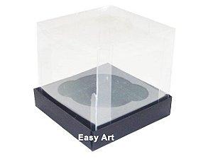 Caixas para 1 Mini Cupcake - Preto