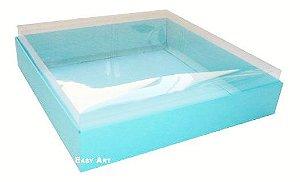 Caixas para 9 Brigadeiros - Azul Tiffany