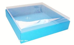 Caixas para 9 Brigadeiros - Azul Turquesa