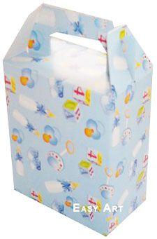 Caixa Maleta - Estampado Bebê Azul
