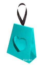 Caixinha Coração - Azul Tiffany
