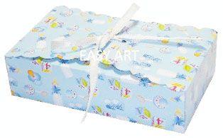 Caixinha para Biscoitos e Presentes - Estampado Bebê Azul