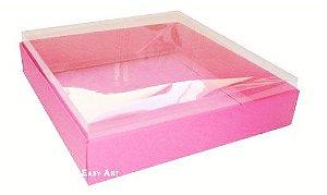 Caixa para 16 Brigadeiros 16x16x4,5 - Pink