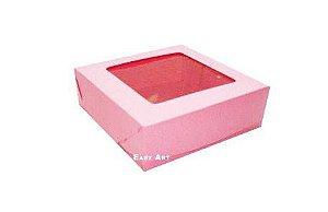 Caixa para 9 Brigadeiros - Rosa Claro