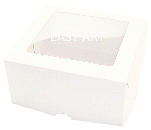 Caixas para 4 Cupcakes com Visor - Branco