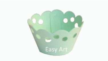 Wrapper para Cupcakes - Verde Claro
