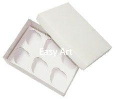 Caixas para Transporte de 6 Mini Cupcakes - Branco