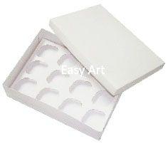 Caixas para Transporte de 12 Mini Cupcakes 23,5x16,8x6 - Branco