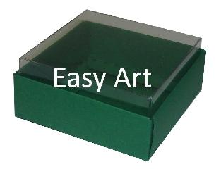 Caixinhas para Bijuterias / Verde Bandeira - 5x5x2,5