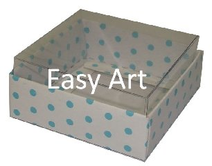 Caixinhas para Bijuterias / Branco Poás Azuis - 5x5x2,5